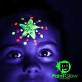GLOW IN THE DARK Face & Body Paint 10 x 13 ml onzichtbaar_