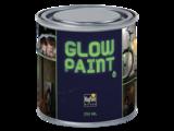 Glow in the dark muur en materiaal verf _