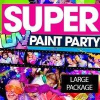 PAINTGLOW UV PAINTPARTY PAKKET 300 pers
