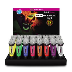 PaintGlow UV Face & Body Paint  60 x 13 ml Tubes