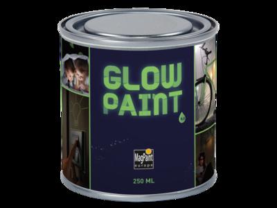 Glow in the dark muur en materiaal verf